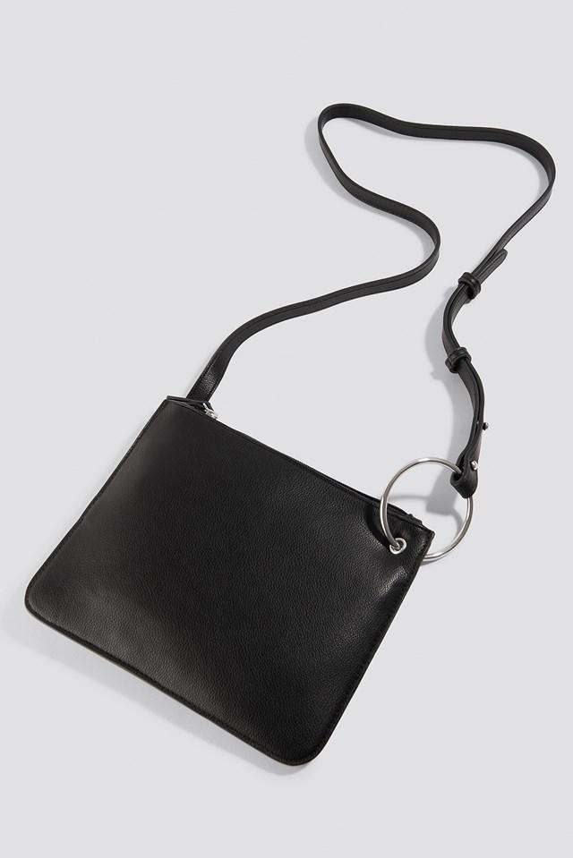 Flat Shoulder Bag Black