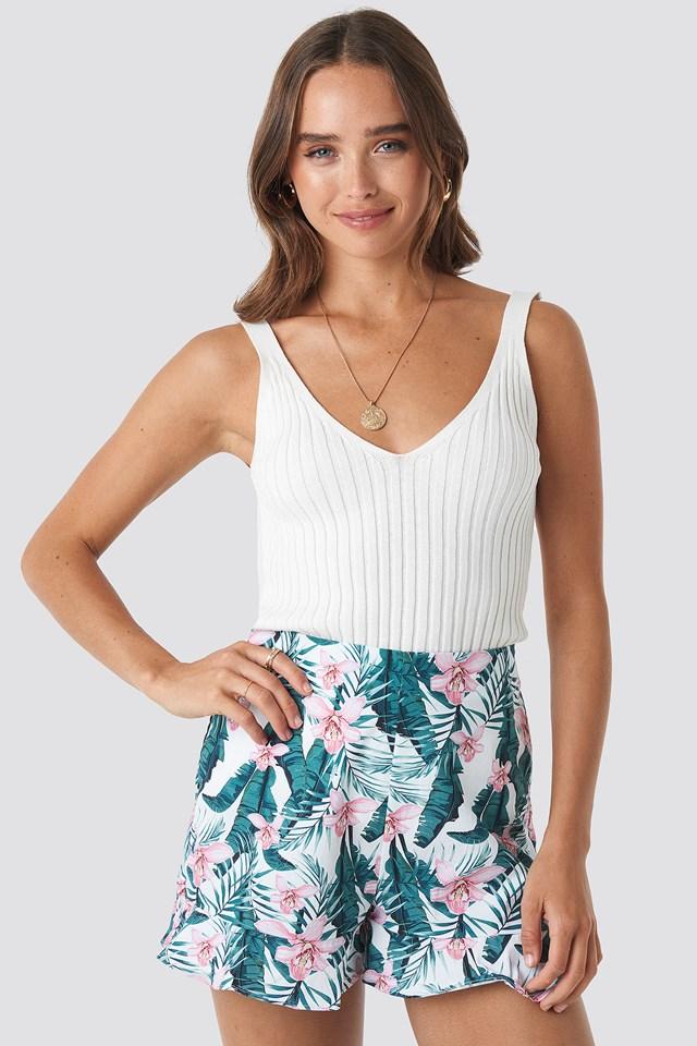 Floral Bermuda Shorts White/Flower