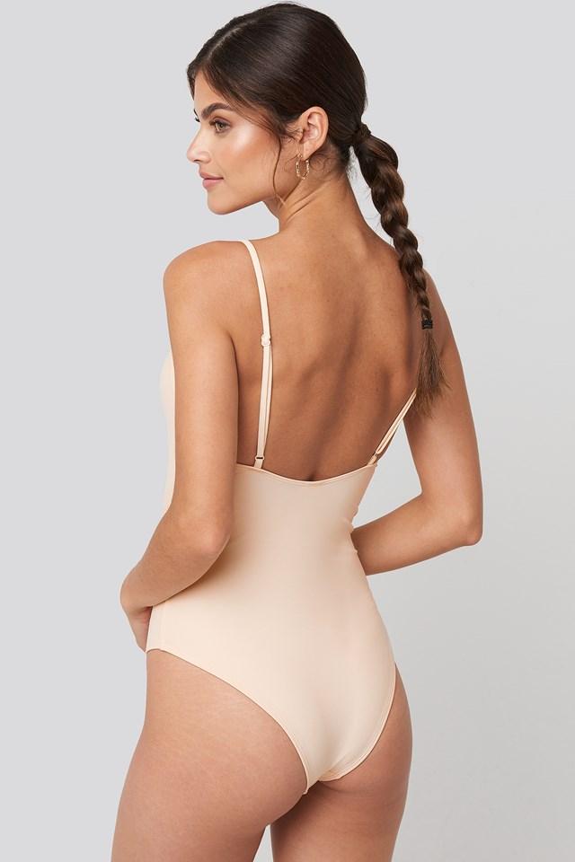 Flounce Swimsuit Cream
