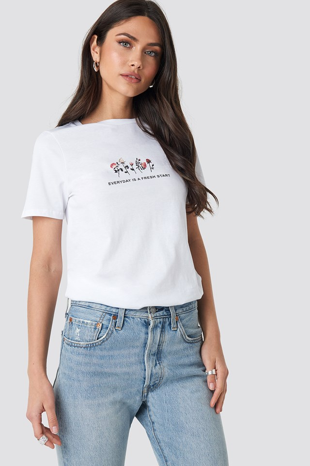 Fresh Start T-shirt Optical White