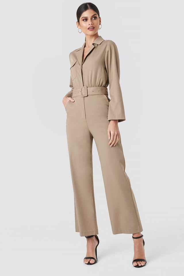 Front Pocket Jumpsuit NA-KD Trend