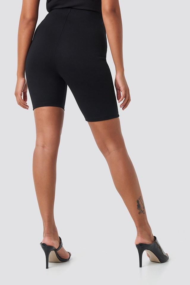 Front Seam Cycle Shorts Black