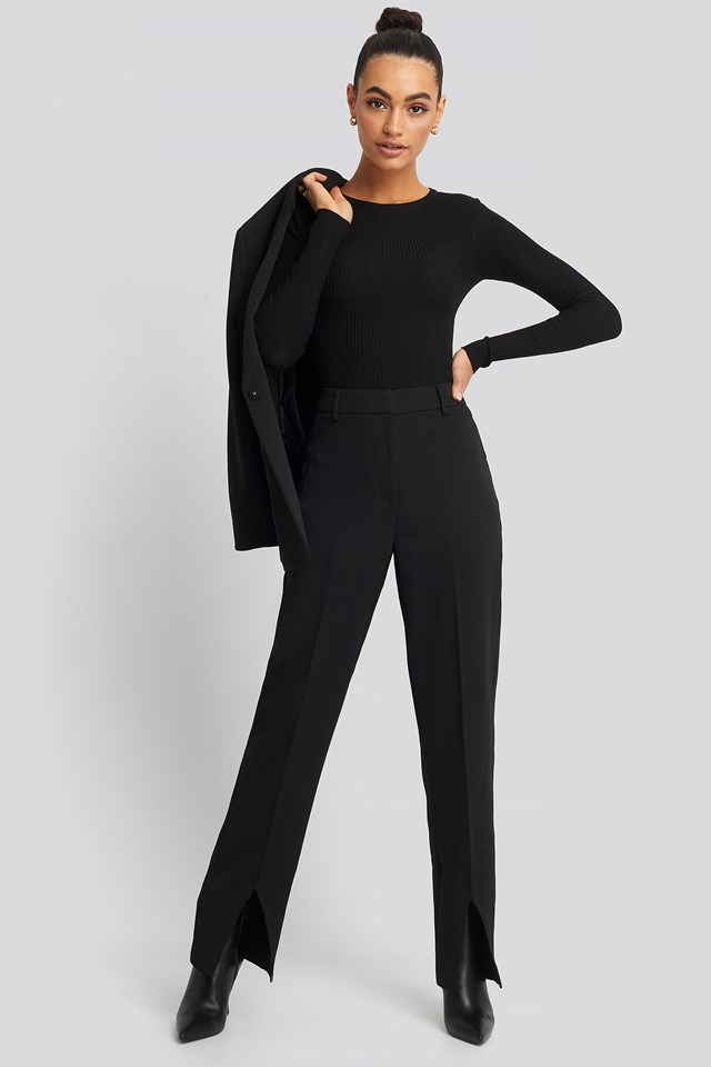 Front Slit Suit Trousers NA-KD Classic