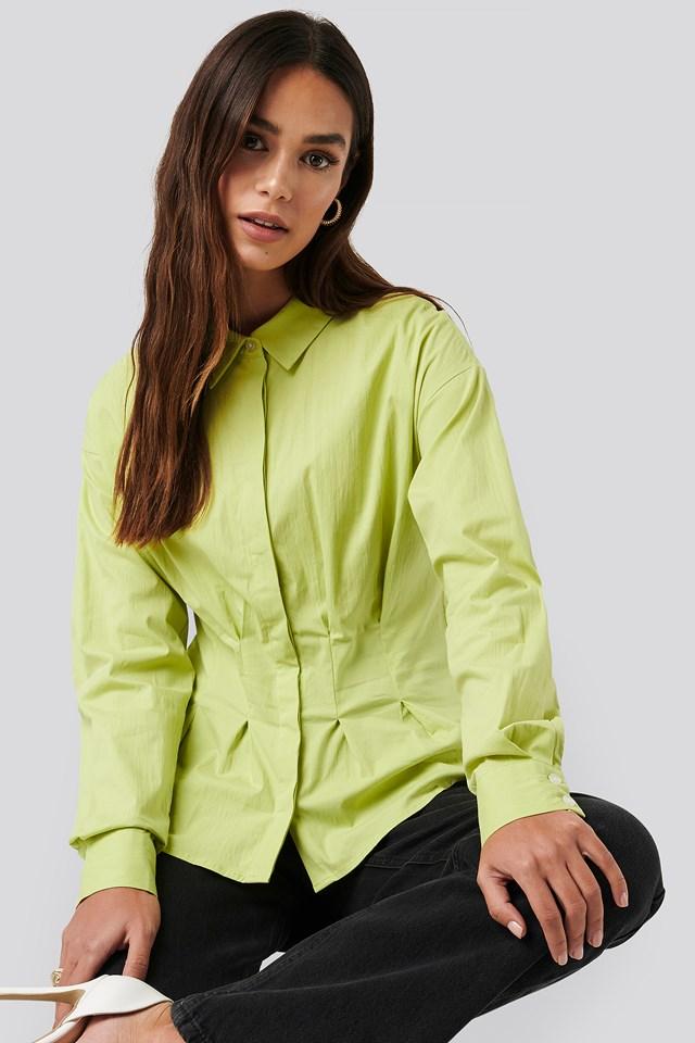 Gathered Waist Shirt Lime
