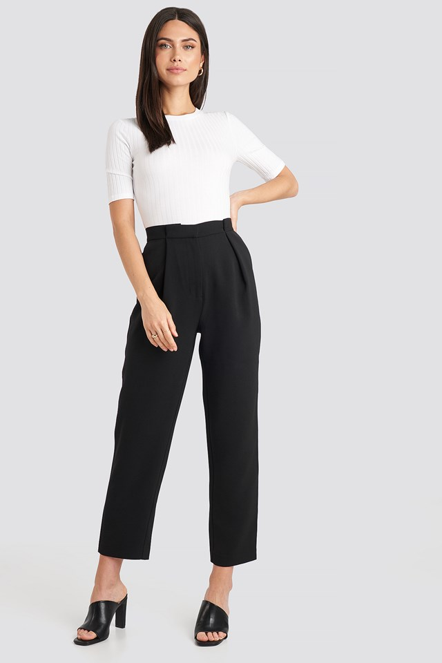 Gathered Waist Suit Pants NA-KD Classic