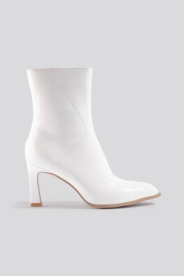 Glossy Patent Low Boots NA-KD Shoes