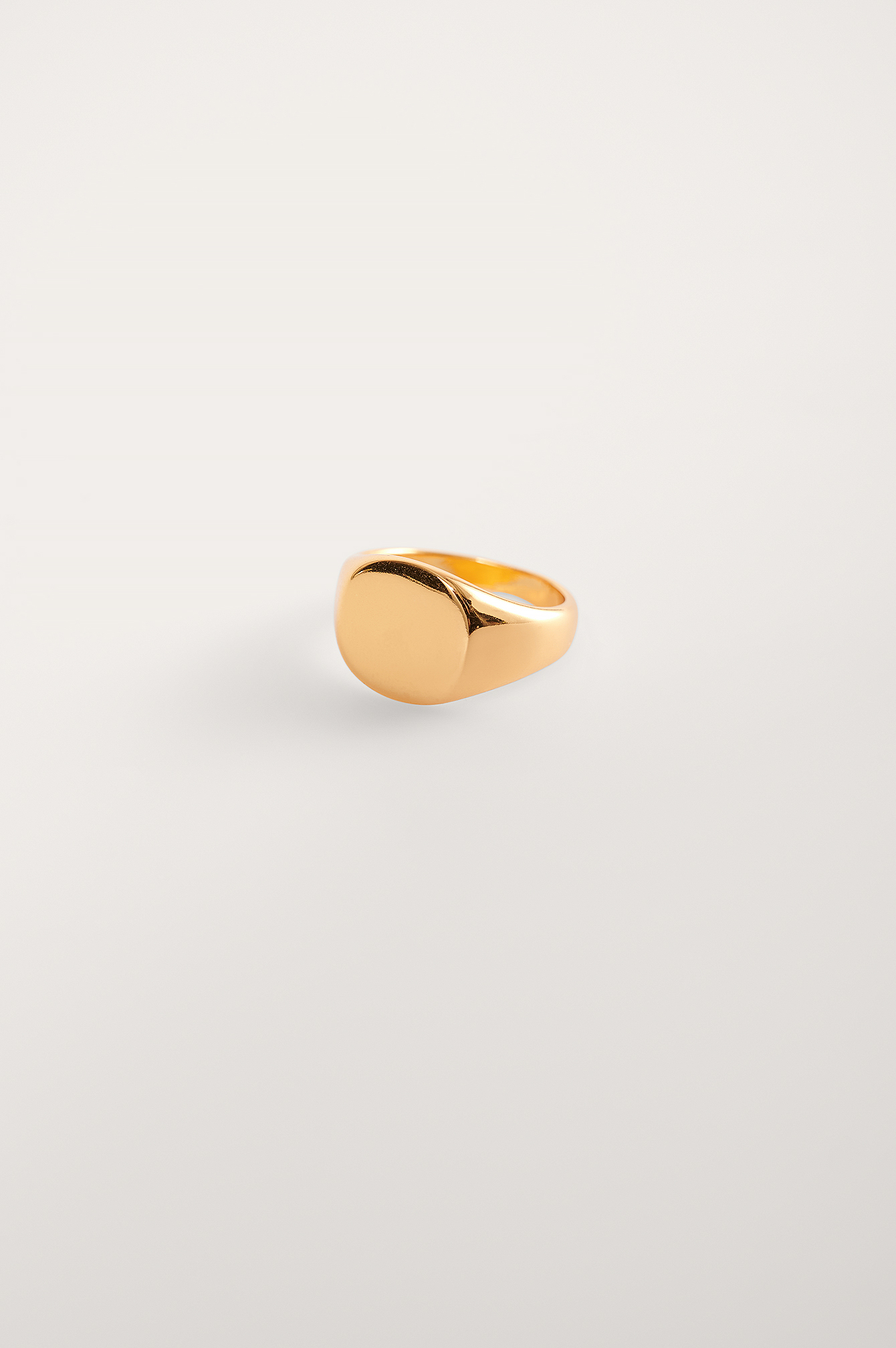 Gold Gold Plated Signet Ring