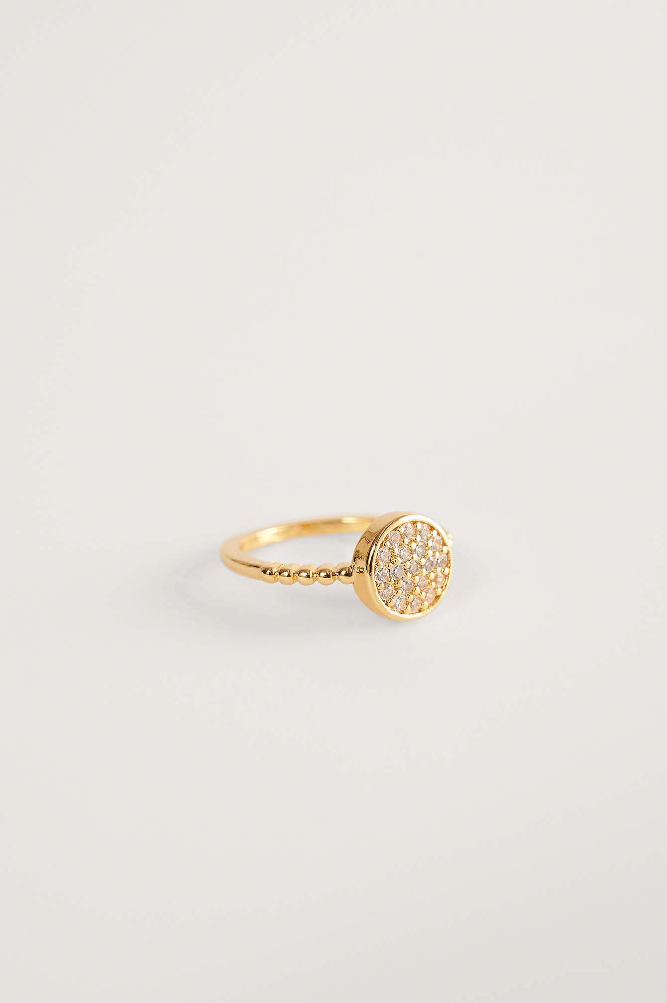 Gold Gold Plated Sparkling Pinky Ring