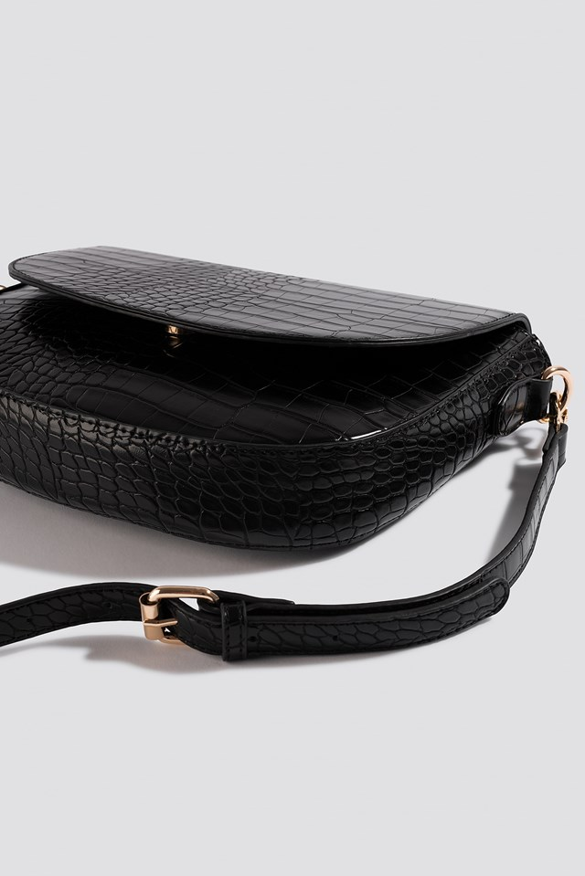 Halfmoon Reptile Bag Black