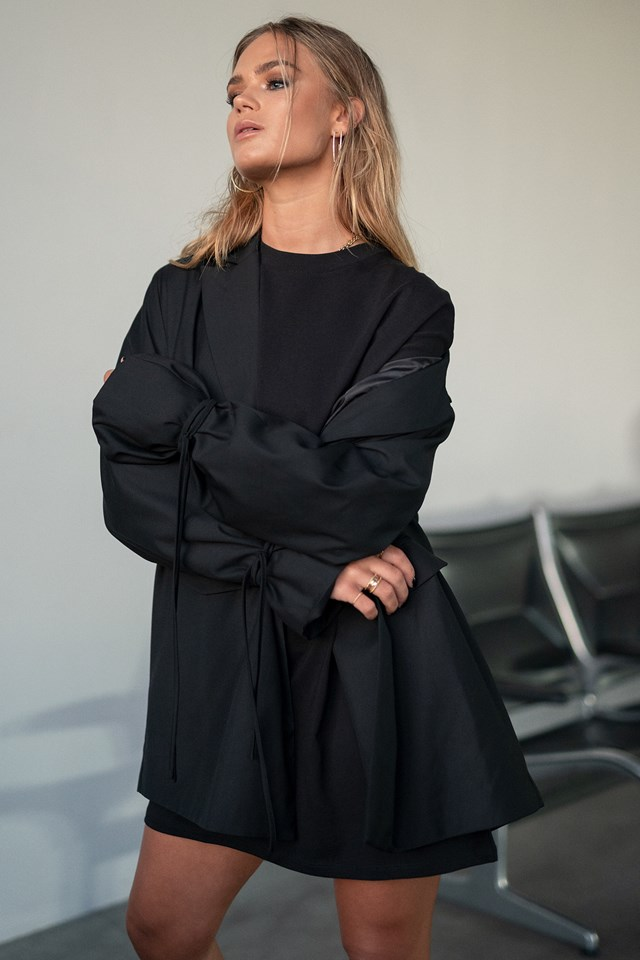 Oversized T-shirt Dress Black