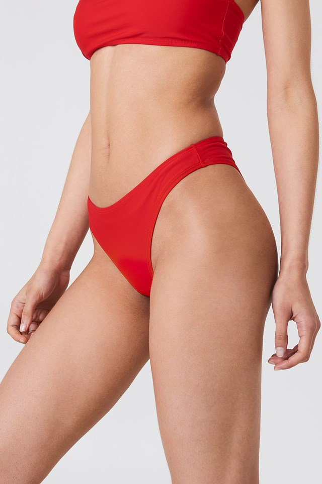 High Cut Bikini Panty Red