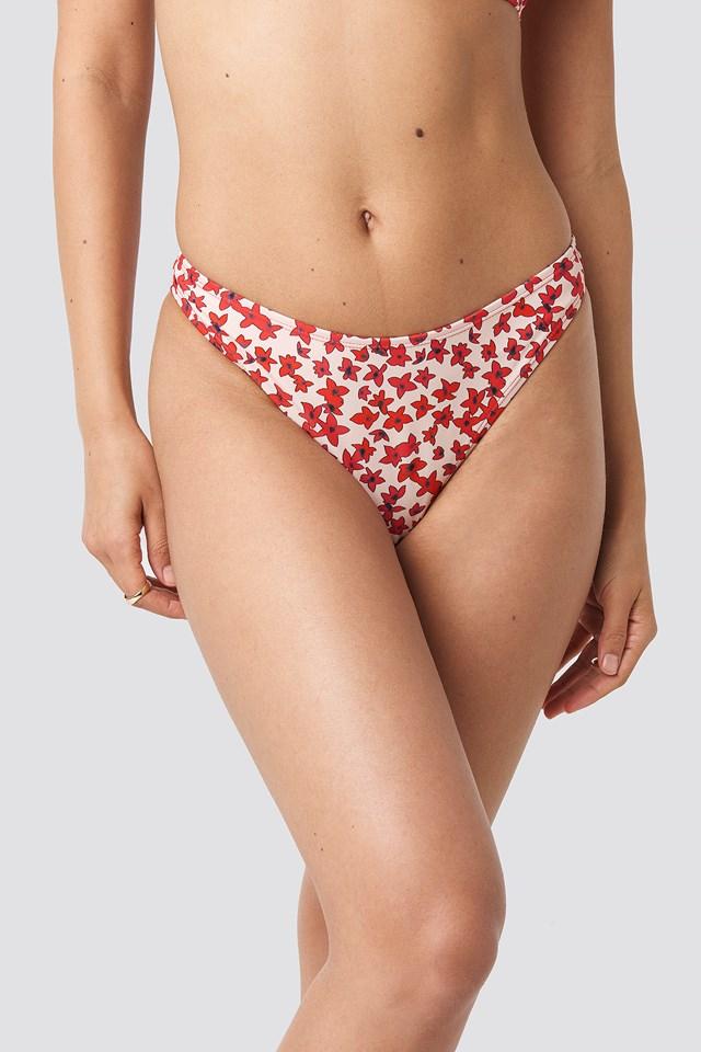 High Cut Bikini Panty Flower Print
