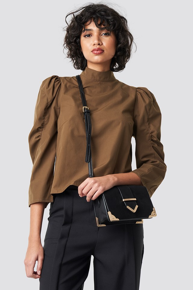 High Neck Puff Sleeve Blouse NA-KD Trend