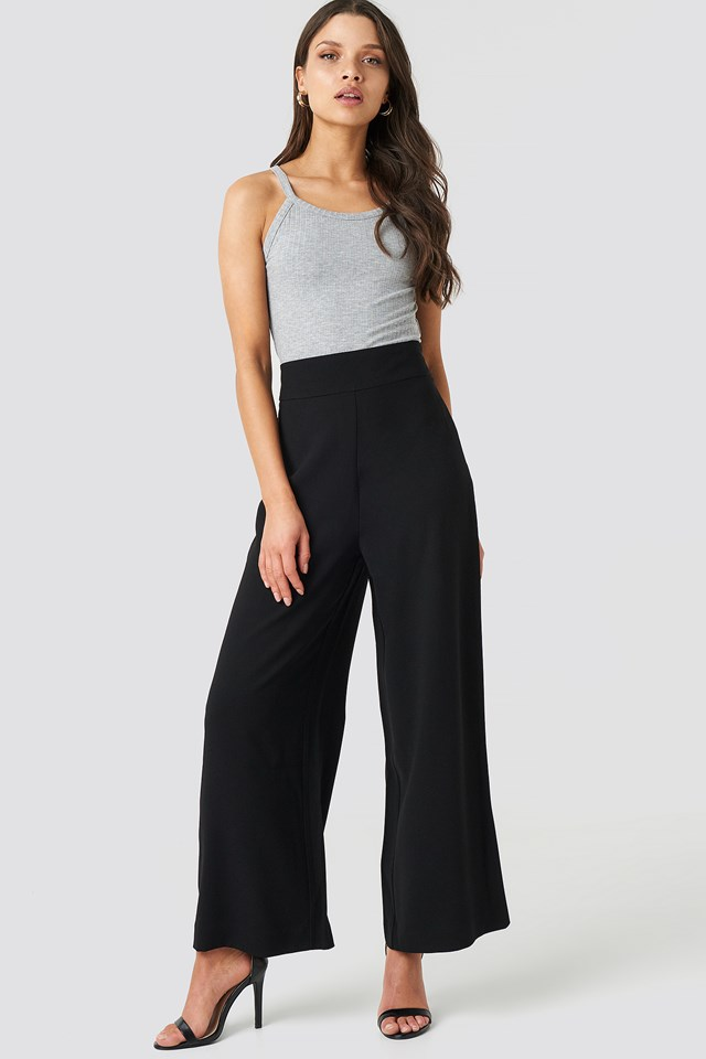 High Waist Wide Cropped Pants NA-KD Trend