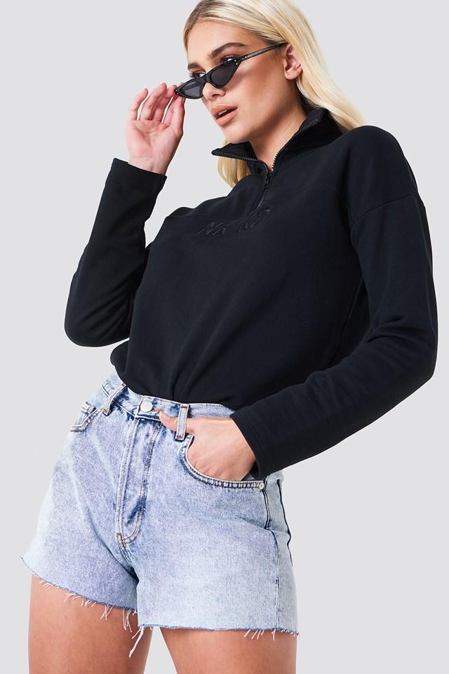 High Waist Denim Shorts NA-KD Trend