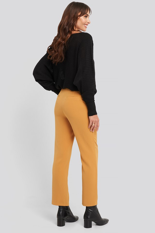 High Waist Suit Trousers Yellow