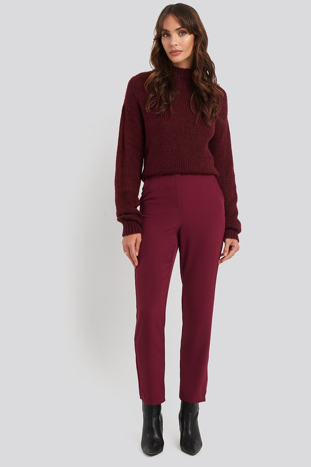 High Waist Suit Trousers NA-KD Classic