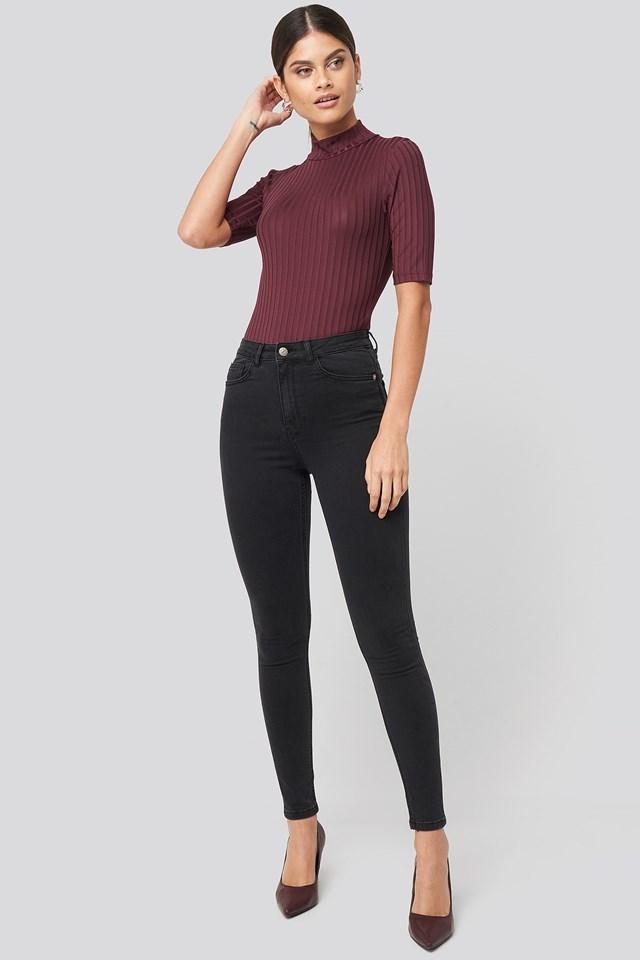 High Waist Skinny Jeans NA-KD