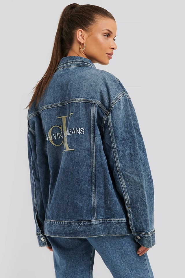 Iconic Oversized Trucker Jacket Mid Blue