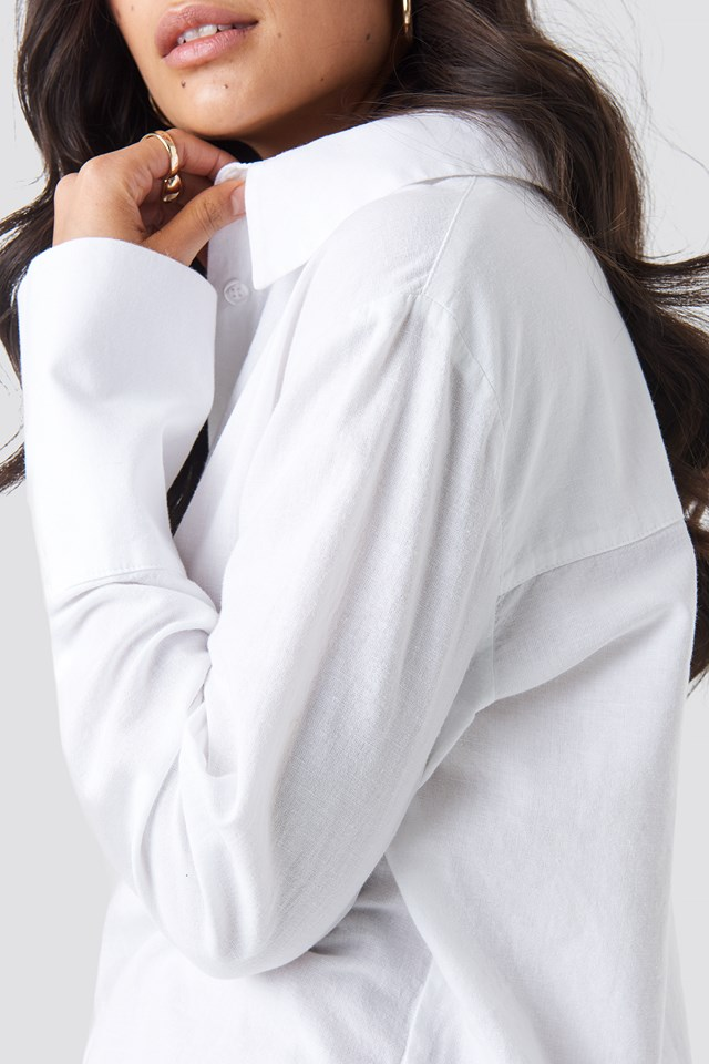 Sleeve Detail Shirt White