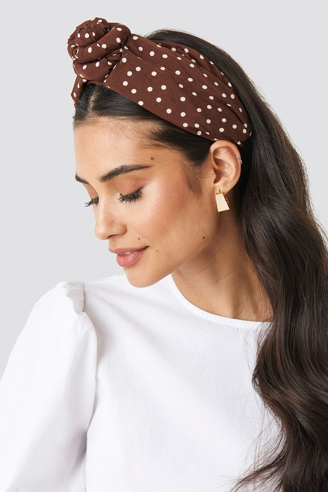 Knot Detailed Hairband Brown