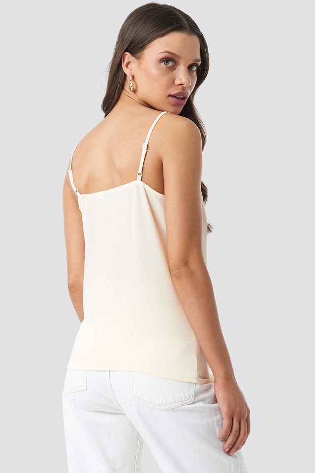 Lace Detail Singlet Off White