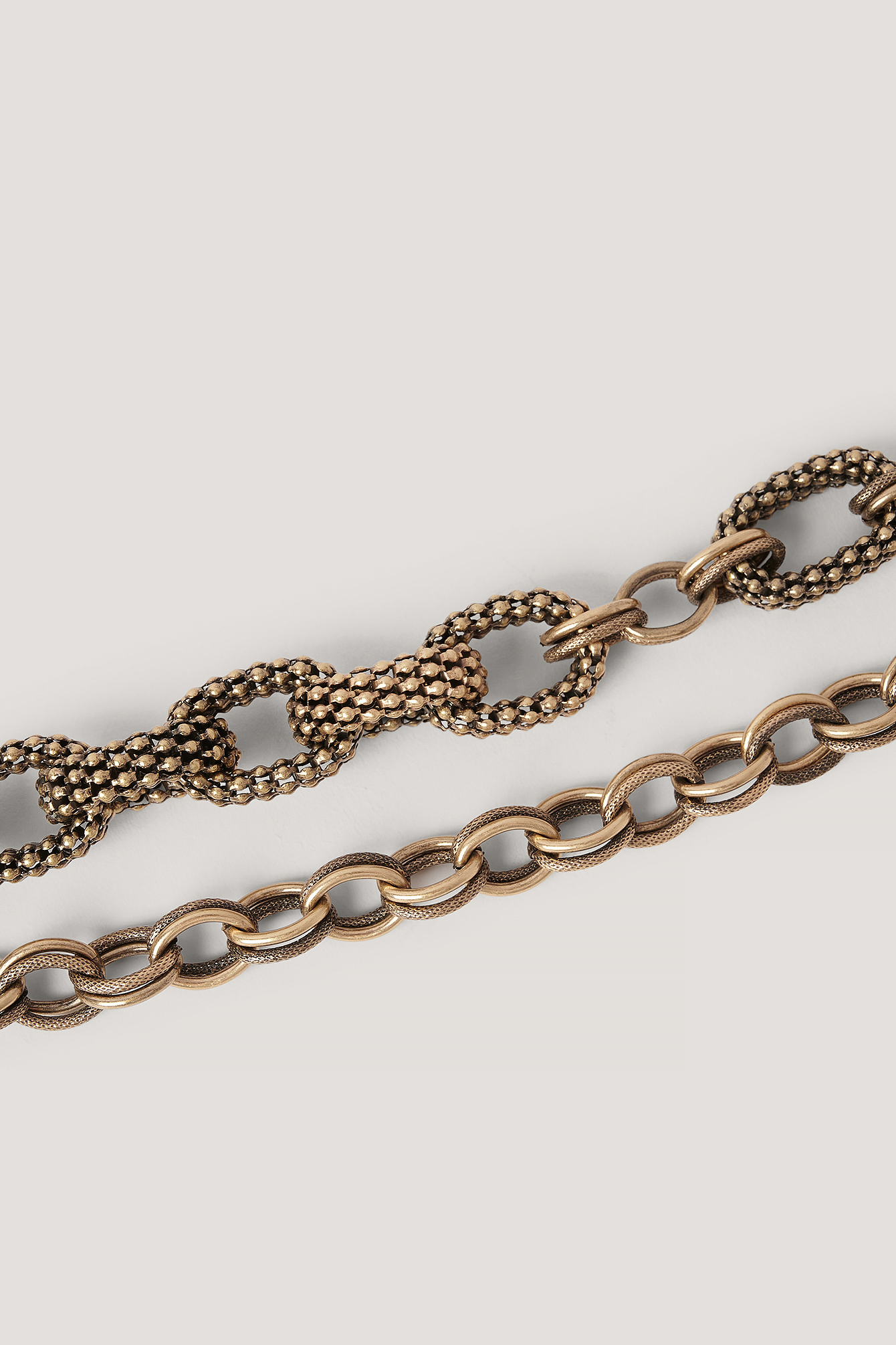 Gold Layered Oversize Chain Belt