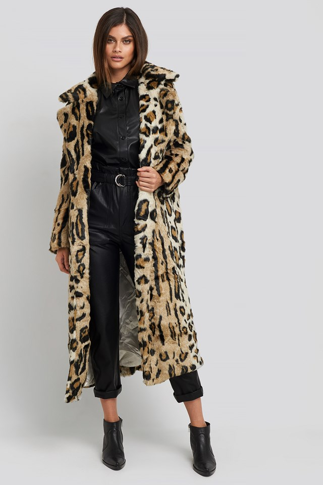 Leo Faux Fur Coat NA-KD