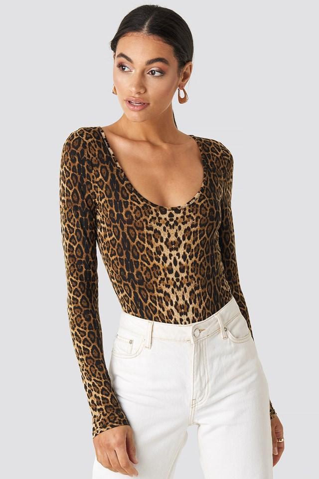 Leo Round Neck Body Leopard