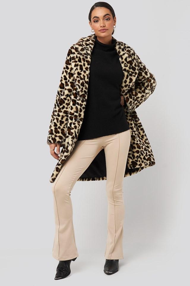 Leopard Faux Fur Jacket NA-KD Trend
