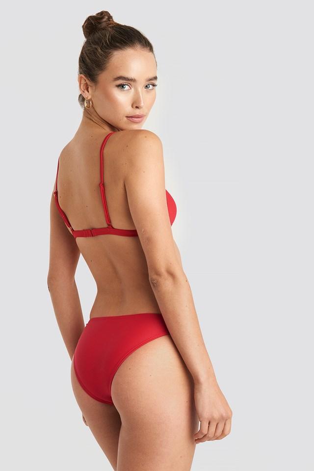 Light Padded Bikini Top Cherry Red