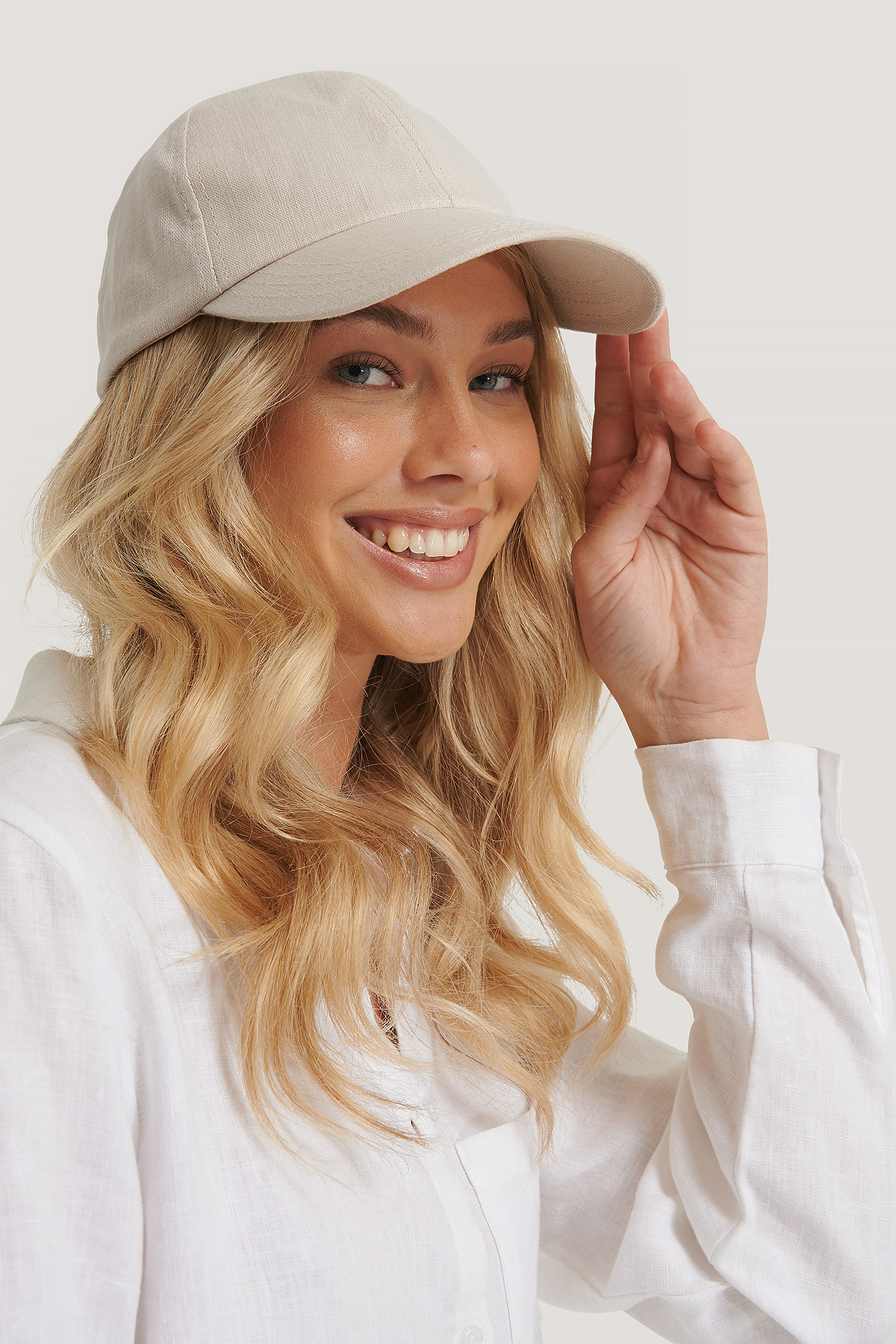 Natural Linen Baseball Cap