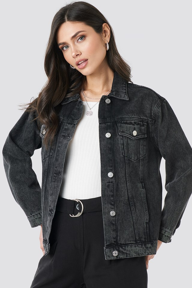 Long Oversized Denim Jacket NA-KD Trend