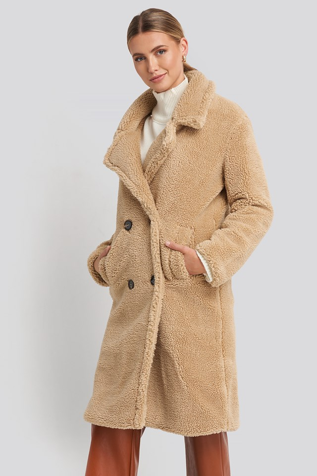 Long Teddy Coat NA-KD