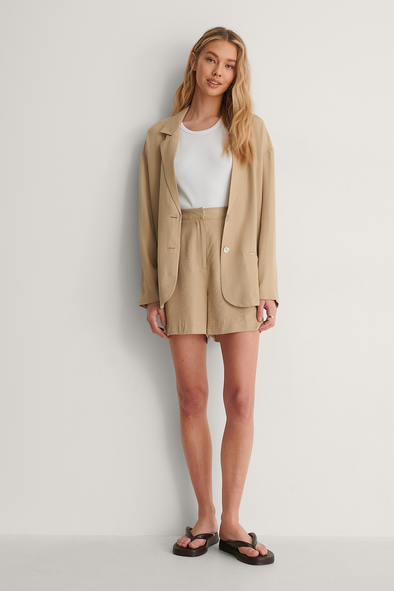 Sand Loose Fit Blazer