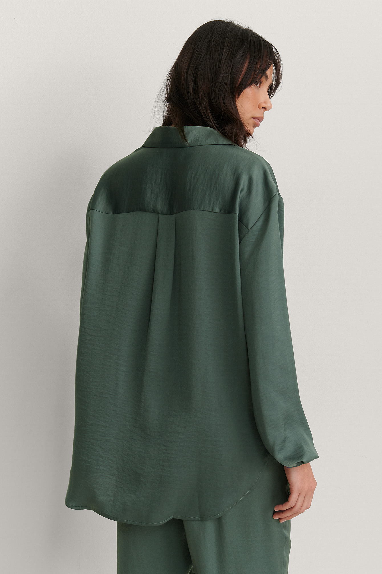 Green Loose Fit Shirt