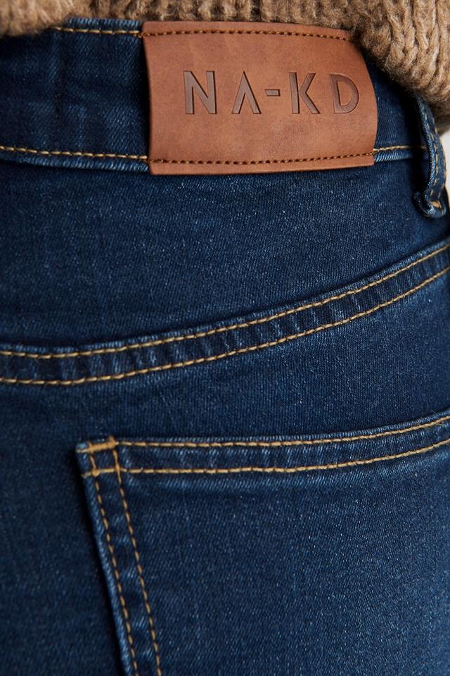 Skinny Low Waist Jeans Dark Blue