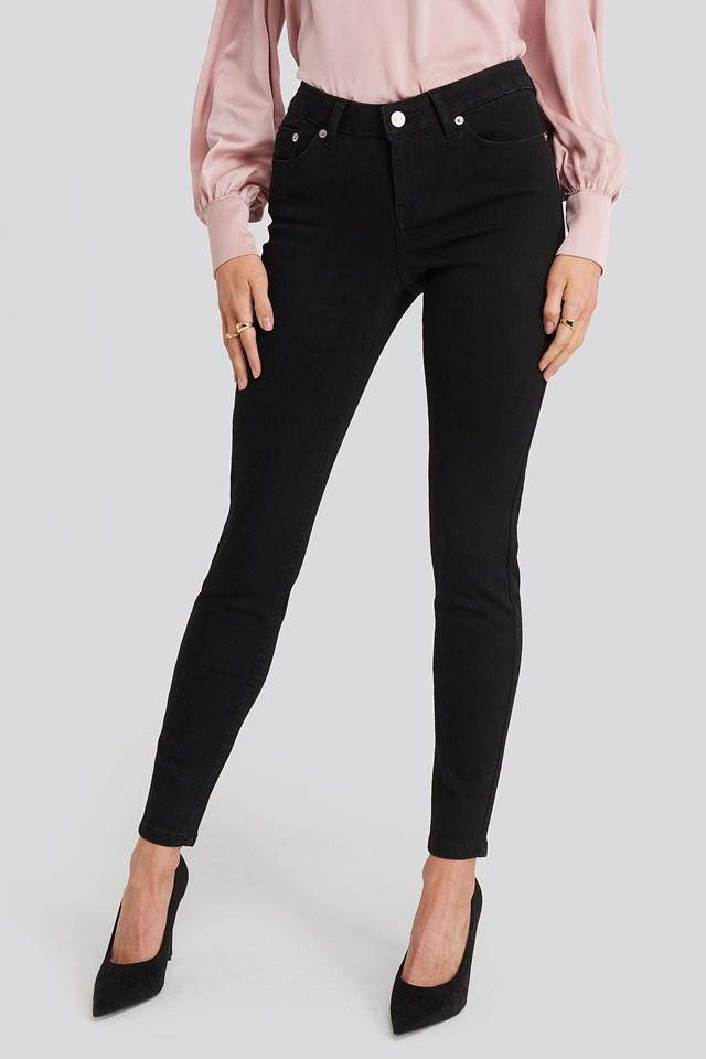 Skinny Low Waist Jeans Black