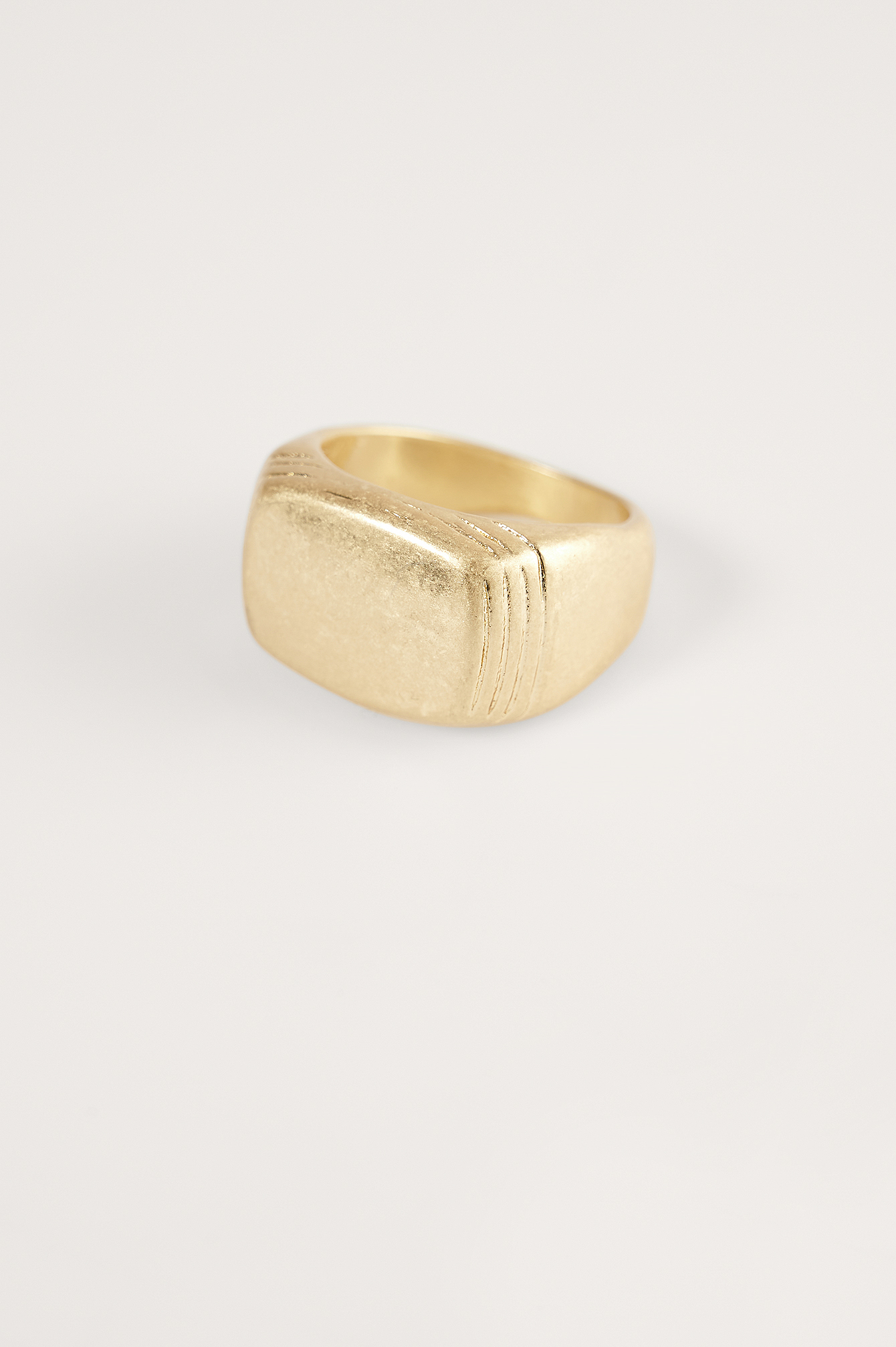 Gold Matte Signet Ring