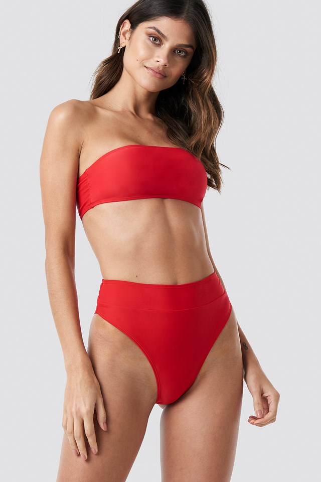 Maxi High Waist Bikini Panty Red