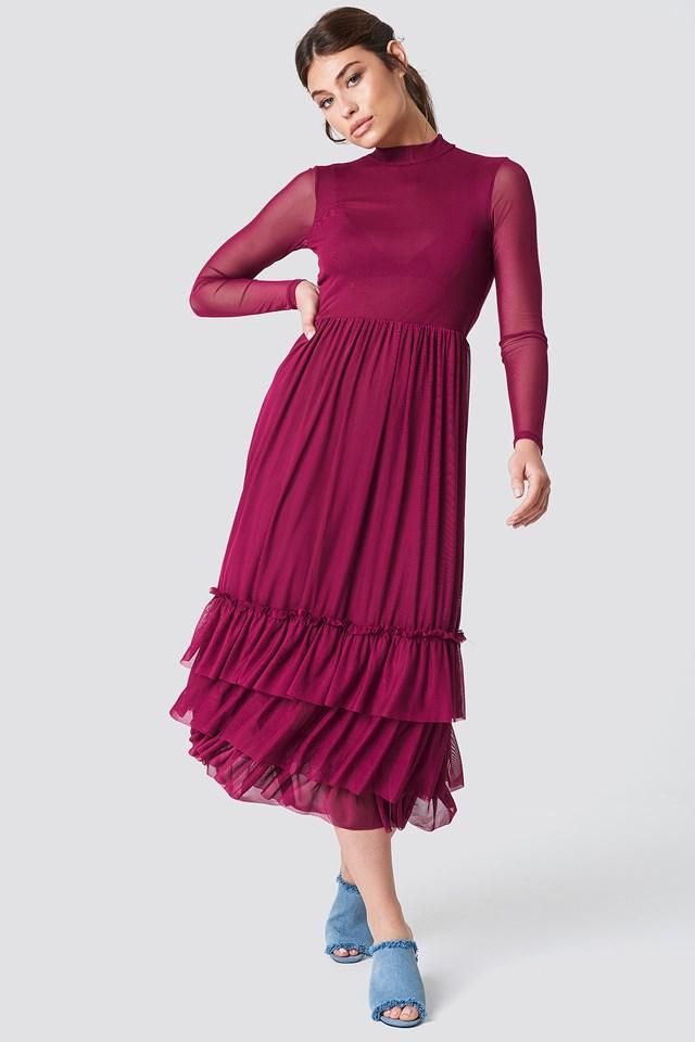 Mesh Frill Dress NA-KD Boho