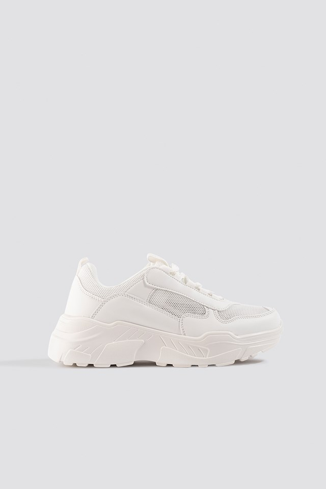 Mesh Mix Chunky Trainers NA-KD Shoes