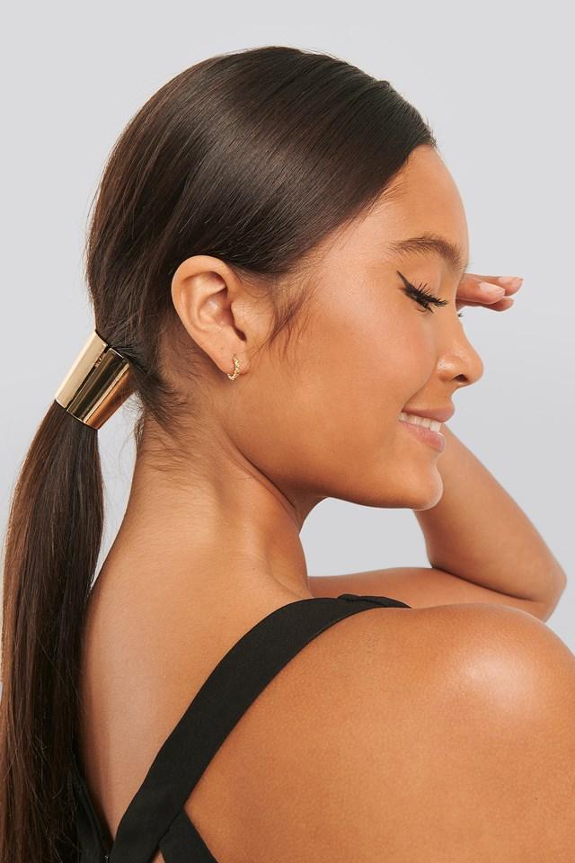 Metal Hair Elastic Detail Gold