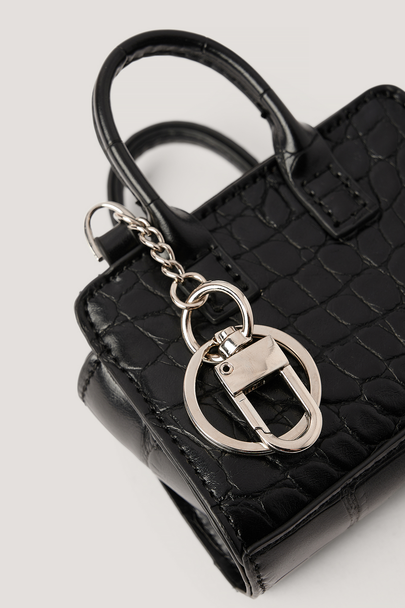 Black Micro Keychain Bag