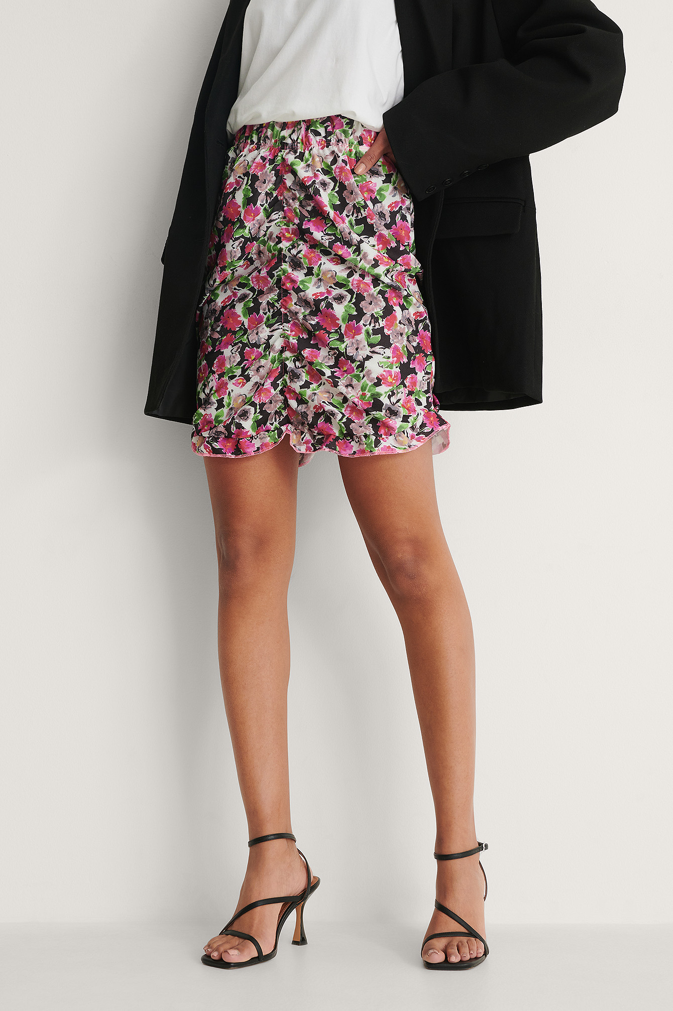 Multicolor Milla Flower Mini Skirt