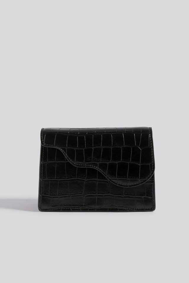 Mini Crossbody Bag Black Croco