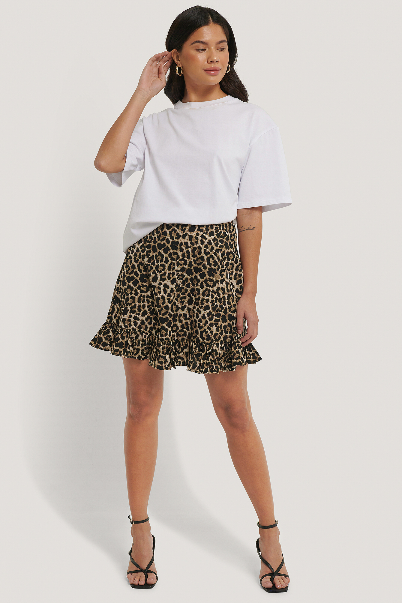 Leo Mini Flounce Skirt