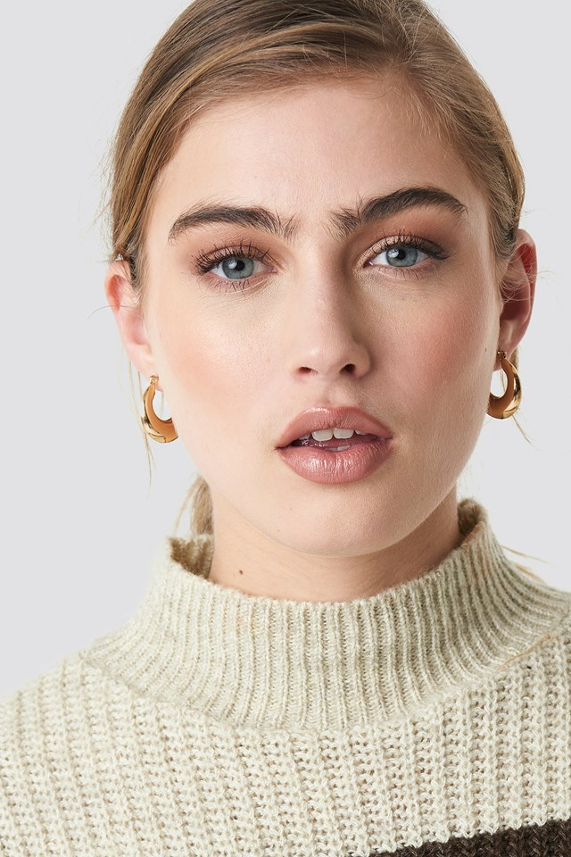 Mini Thick Hoop Earrings Gold