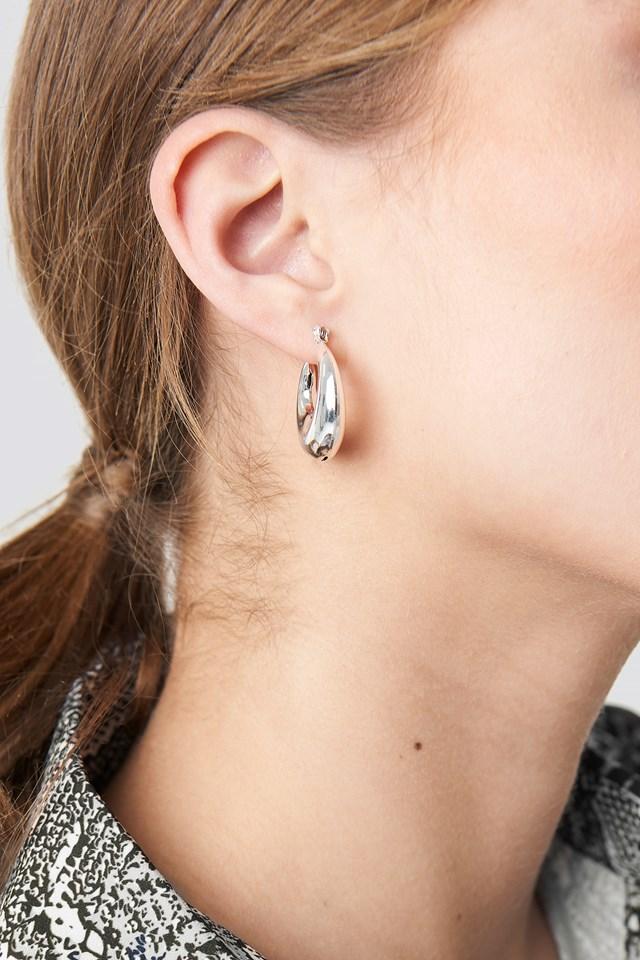 Mini Thick Hoop Earrings NA-KD Accessories