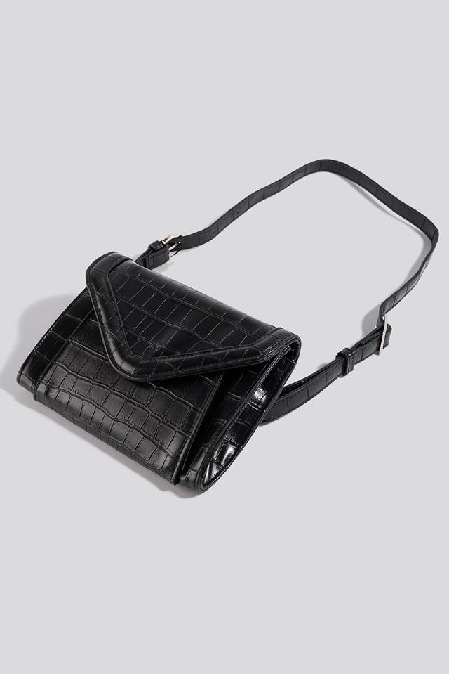 Mini Two Way Bag Black Croco